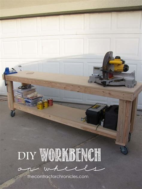 diy workbench  wheels diy workbench workbench