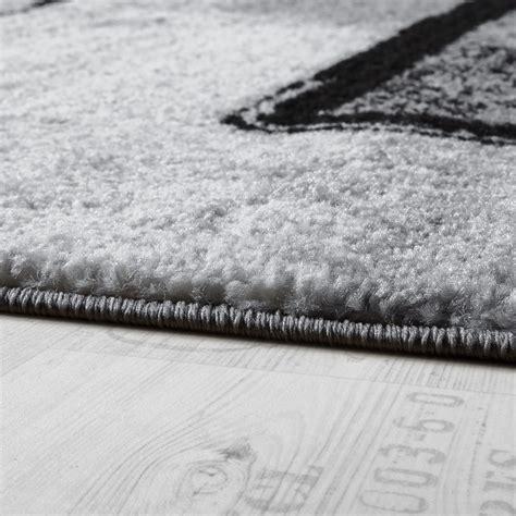 tapis design moderne poils ras abstrait peintures effet noir gris anthracite tous les produits