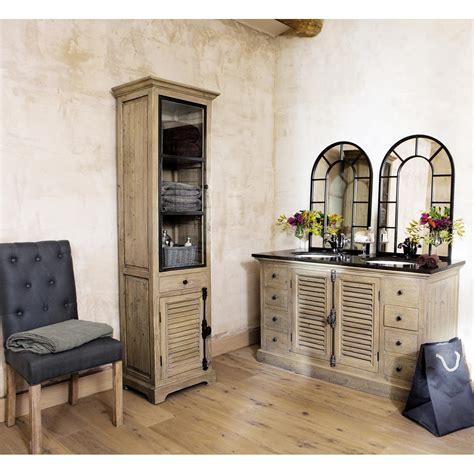 meuble cuisine persienne vitrine en bois recyclé l 52 cm persiennes maisons du monde