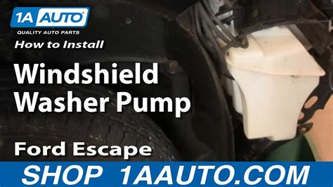 replace windshield washer pump   ford escape