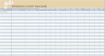 wedding tracker wedding guest list sle helloalive