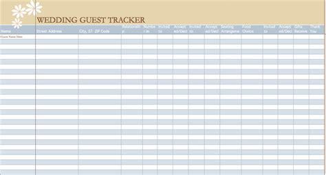 wedding guest list template microsoft excel templates