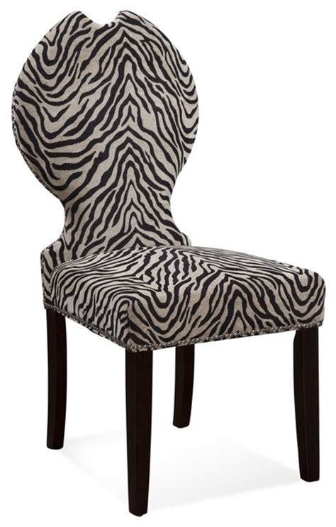 raja zebra print chair living room chairs by