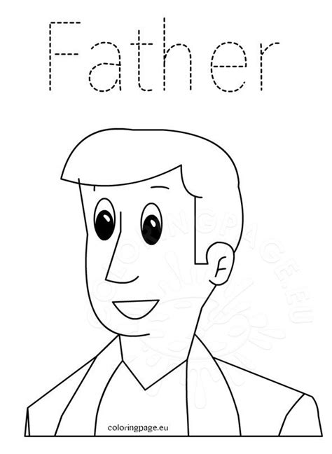father word tracing coloring page