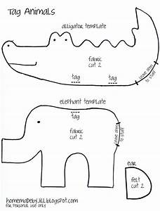 Cute free stuffed animals pattern elephant and alligator for Templates for sewing animals