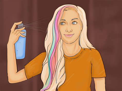 color your hair how to dye your hair with washable markers 10 steps