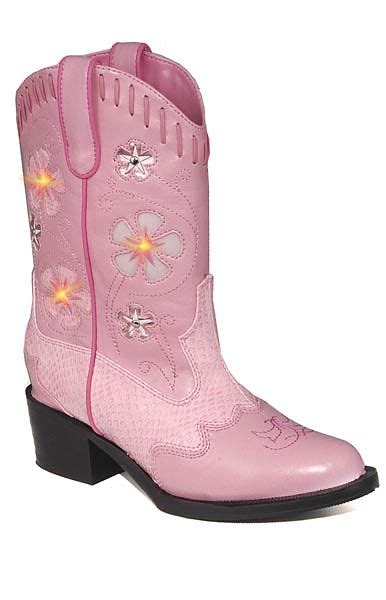 Toddler Light Up Boots by Toddler S Light Up Cowboy Boots In Pink W Pink Snakeskin