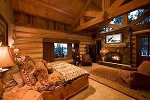 Awesome Log Cabin Bedroom Dream Home Pinterest