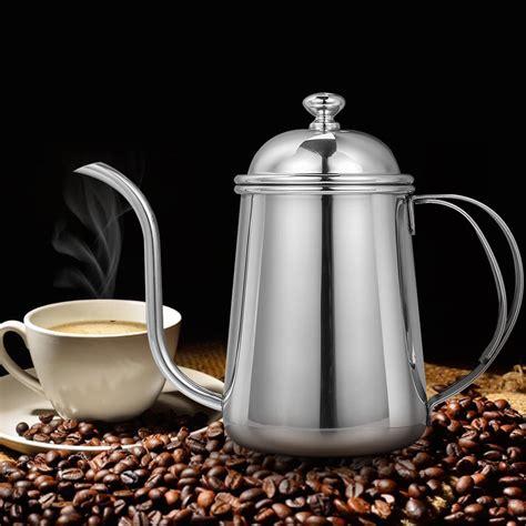 coffee pot kettle stainless maker steel drip gooseneck mirror spout 6mm 650ml premium serve single realand pots finish