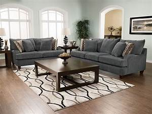 putty chenille sofa grey the brick With living room furniture the brick