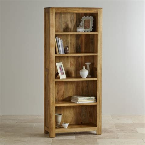 solid oak bookcases in seven sizes mantis light tall bookcase in solid mango oak furniture land