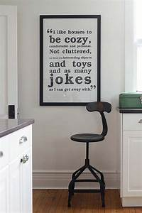 35 diy room decor ideas in black and white With kitchen colors with white cabinets with family wall art quotes