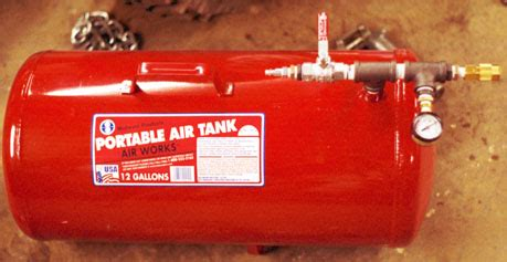 auxiliary compressed air tank