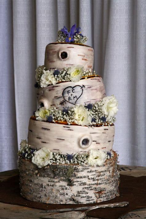 25 Best Birch Wedding Cakes Ideas On Pinterest Birch