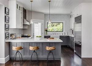 gray distressed kitchen cabinets with marble herringbone With kitchen cabinet trends 2018 combined with cheap large canvas wall art