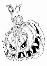 Scary Monster Coloring Pages Really Print Printable Creepy Getcolorings sketch template
