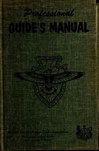 Professional Guide U0026 39 S Manual  1962 Edition