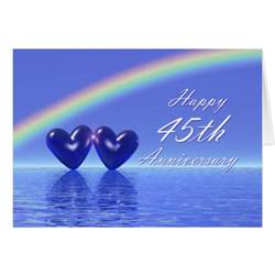 45th wedding anniversary gift 45th anniversary sapphire hearts greeting card zazzle