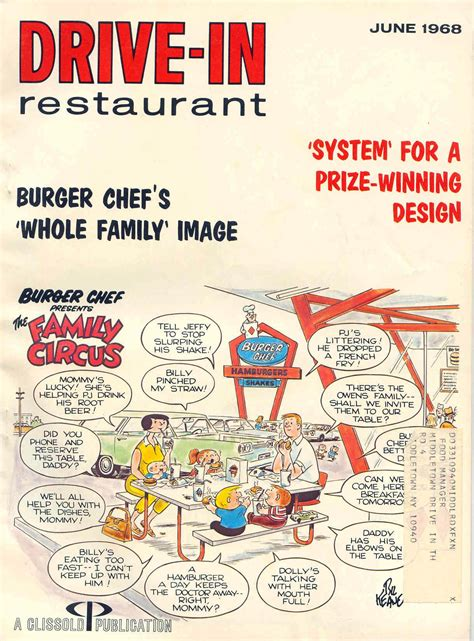 burger chef  family circus teamed   promote burger