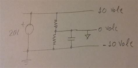 How Calculate Capacitor Resistors Virtual Ground