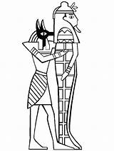 Mummy Egyptian Sarcophagus Coloring Anubis Pages Drawing Tomb Template Drawings Pencil Holding Getdrawings Getcolorings Printable Mummies Sketch sketch template