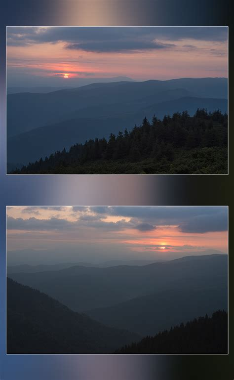 dawn   carpathian mountains  graphics