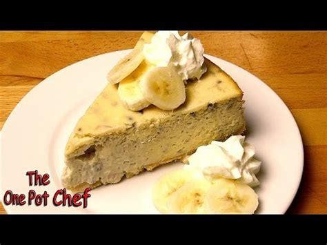one pot chef nutella cheesecake banana cheesecake doovi