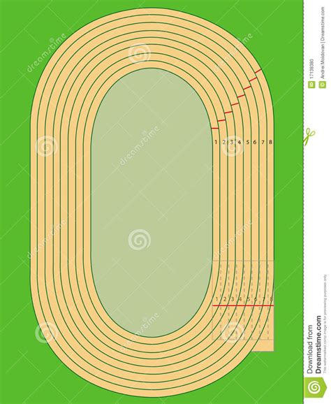 Diagram Of Track Running by Running Track Stock Vector Illustration Of Competition