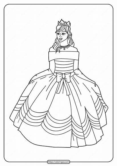 Princess Coloring Printable Pdf Tweet Whatsapp