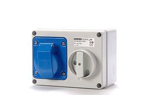 Mobile Mounting Socket 32a 2p gewiss gw66015 32a blue 230v wall mounted interlocked