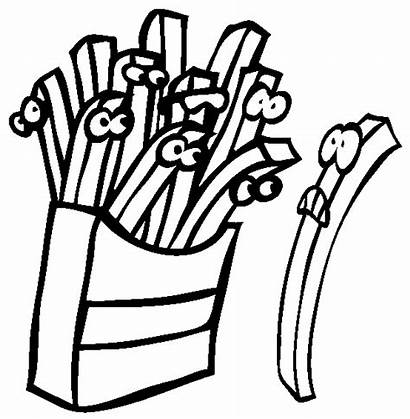 Coloring French Fast Fries Fry Printable Sevenlere