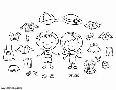 Coloring Clothes Pages Summer Fun Printable Preschool