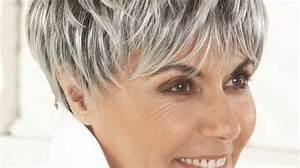 Coupe Cheveux Gris Femme 60 Ans : coupe courte femme 60 ans cheveux gris coiffures ~ Voncanada.com Idées de Décoration