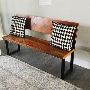 Bench, With, Back, Accent, Bench, Entry, Bench, Industrial, Bench