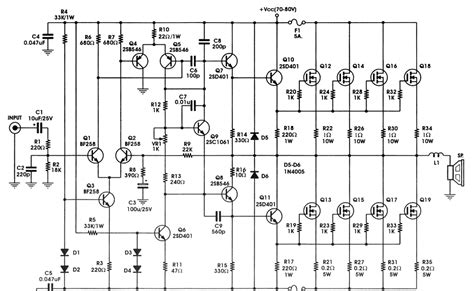 Mosfet Amplifier Circuit With Irfp