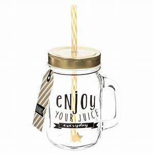 Tasse à Café Maison Du Monde : bocal avec paille en verre everyday maisons du monde ~ Teatrodelosmanantiales.com Idées de Décoration