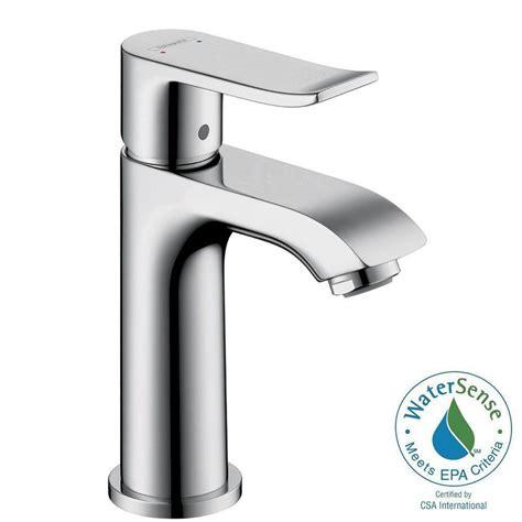 hansgrohe metris e 100 single 1 handle low arc bathroom faucet in chrome 31088001 the