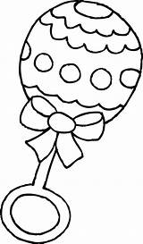 Coloring Rattle Clip Clipart Sweetclipart sketch template