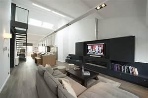 Architecture à Vivre : s jour en longueur chaleureux gr ce au bois et couleurs douces ~ Melissatoandfro.com Idées de Décoration