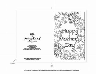 Printable Cards Mothers Mother Card Coloring Pages