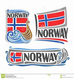 Vector Illustration Of The Logo For Norway Stock Vector