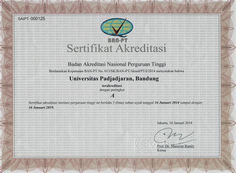 Surat Keterangan Akreditas by Universitas Universitas Padjadjaran