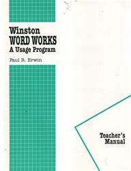 Winston Grammar Word Works  Teacher's Manual  Exodus Books