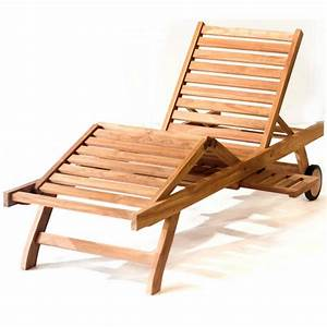 Chaise Longue Bain De Soleil : transat bain de soleil en teck pas cher chaise longue ~ Dailycaller-alerts.com Idées de Décoration