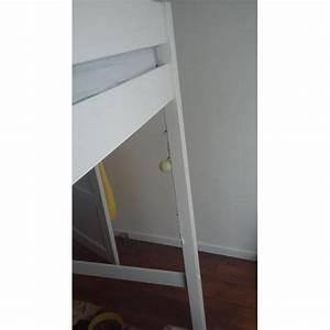 Lit Mezzanine 140x190 : lit mezzanine en bois blanc 140x190 140x200 achat et ~ Melissatoandfro.com Idées de Décoration