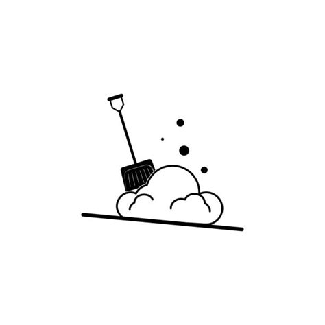 snow shovel illustrations royalty  vector