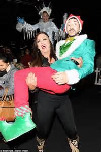 Lisa Appleton Scoops Grown Man Elf Suit Winter