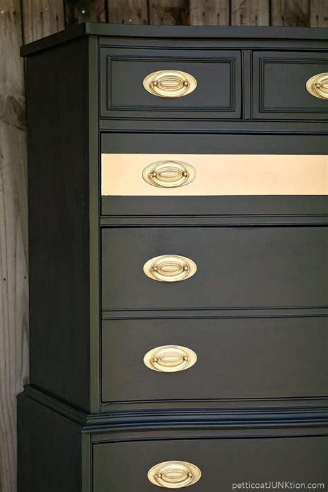 metallic gold stripe adds drama  bedroom furniture