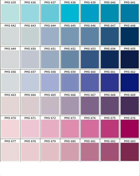nuancier pantone bleu violet rose color pinterest