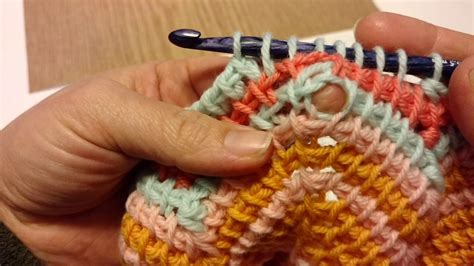 tunisian crochet chain increase youtube